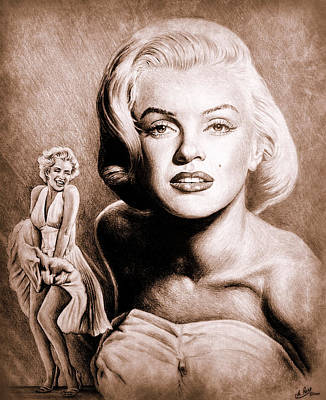 Hollywood Greats Marilyn Poster by Andrew Read