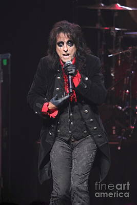 Hollywood Vampires Alice Cooper Poster by Concert Photos