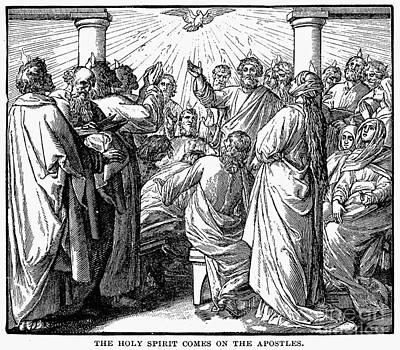 Holy Spirit Visiting Poster by Granger