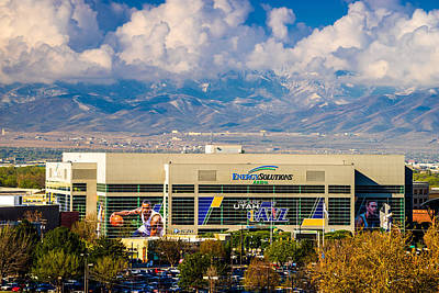 Home Of The Utah Jazz Poster by TL  Mair
