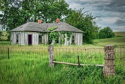 Home Place - Farmhouse - Kansas Poster by Nikolyn McDonald