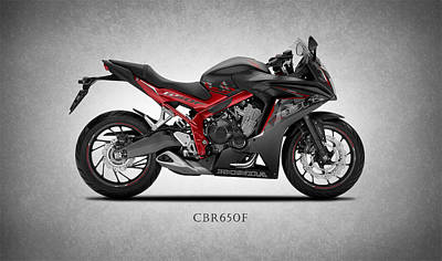 Honda Cbr650f Poster by Mark Rogan
