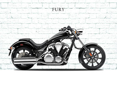 Honda Fury Poster by Mark Rogan