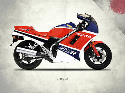 Honda Vf1000r Poster by Mark Rogan