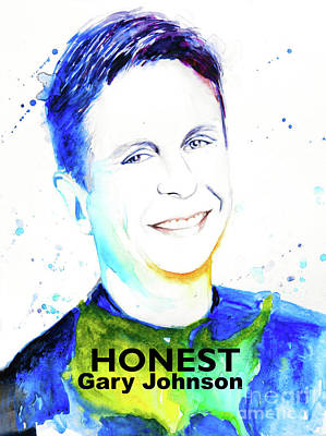 Honest Gary Johnson Poster by Andrea Realpe