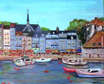Honfleur Fishing Port Poster by Teresa Dominici