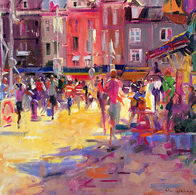 Honfleur Promenade Poster by Peter Graham