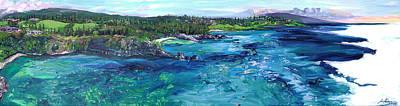 Honolua Bay Cliffs Poster by Joseph Demaree