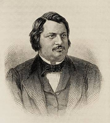 Honore De Balzac 1799-1850. French Poster by Vintage Design Pics