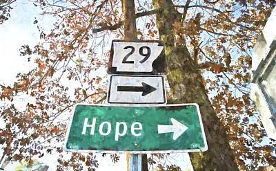 Hope.. Turn Right Poster by Scott Pellegrin