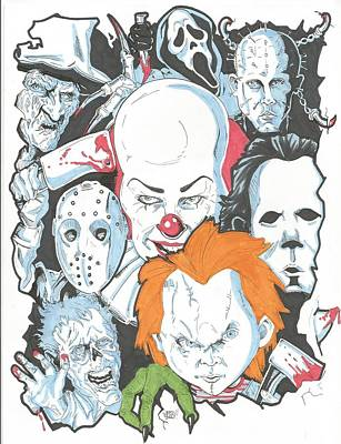 Horror Icons Poster by David Webb