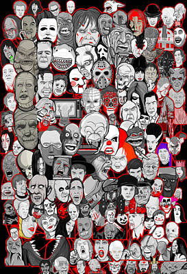 Horror Icons Poster by Gary Niles