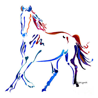 Horse Of Many Colors Poster by Jo Lynch