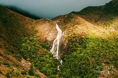 Horsetail Waterfalls Tasmania  Poster by Jorgo Photography - Wall Art Gallery