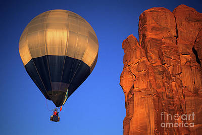 Hot Air Balloon Monument Valley 2 Poster by Bob Christopher