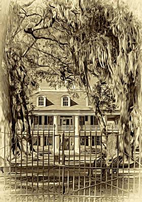 Houmas House Plantation 2 - Sepia Poster by Steve Harrington