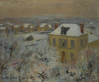 House In Winter Poster by Gustave Loiseau