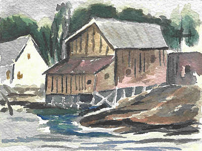 House On The River Poster by Carol Helene
