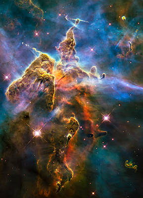 Hubble Captures View Of Mystic Mountain Poster by Marco Oliveira