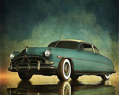 Hudson Hornet Oldtimer Poster by Jan Keteleer