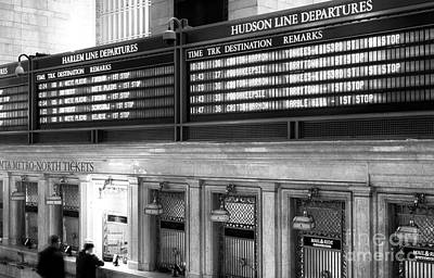 Hudson Line Departures Poster by John Rizzuto