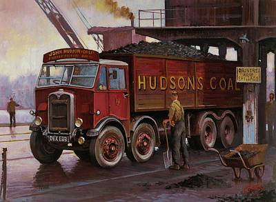 Hudsons Coal. Poster by Mike  Jeffries