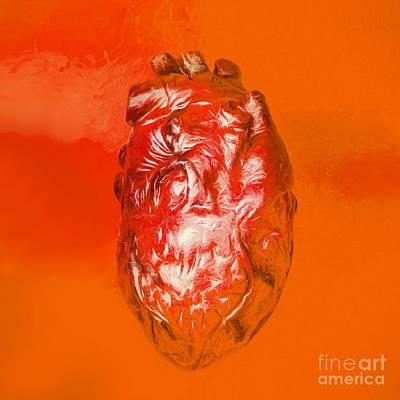 Human Heart In Digital Art Poster by Jorgo Photography - Wall Art Gallery