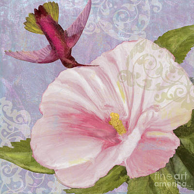 Hummingbird Hibiscus II Poster by Mindy Sommers