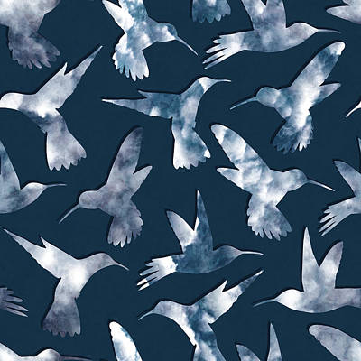 Hummingbirds Poster by Varpu Kronholm