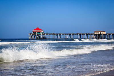 Huntington Beach Pier Photo Poster by Paul Velgos