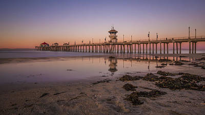 Huntington Beach Pier Poster by Sean Foster