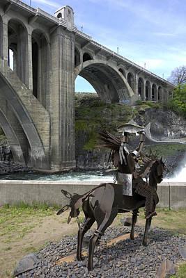 Huntington Park And Monroe St Bridge - Spokane Poster by Daniel Hagerman