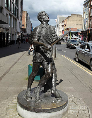 Hurling Statue Limerick Poster by Ros Drinkwater