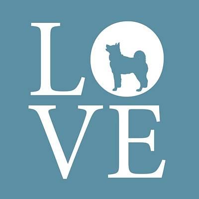 Husky Love Poster by Nancy Ingersoll