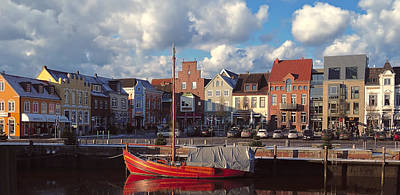 Husum Port - Northern Germany Poster by Daniel Hagerman