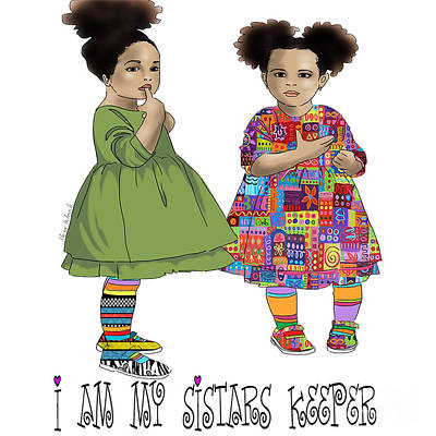 I Am My Sistars Keeper Poster by Respect the Queen