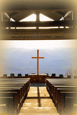 I Will Lift My Eyes To The Hills Psalm 121 1 Vertical 2 Poster by Lisa Wooten