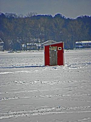 Ice Fishing Paradise Poster by Elizabeth Hoskinson