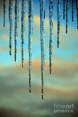 Ice Sickles - Winter In Switzerland  Poster by Susanne Van Hulst
