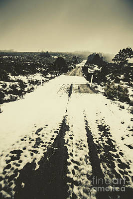 Iced Over Road Poster by Jorgo Photography - Wall Art Gallery