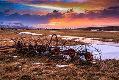 Iceland Sunset # 1 Poster by Tom and Pat Cory