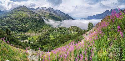 Idyllic Alpine Panorama Poster by JR Photography