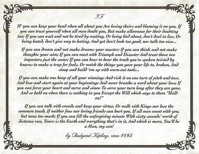 If Poem By Rudyard Kipling Poster by Desiderata Gallery