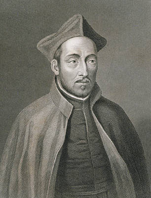 Ignatius Of Loyola Poster by W Holl