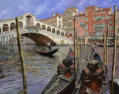 Il Ponte Di Rialto Poster by Guido Borelli