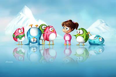 Im A Penguin Too Poster by Tooshtoosh
