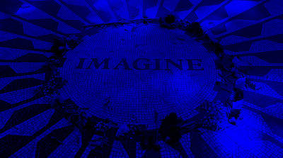 Imagine 2015 Blue Poster by Rob Hans