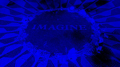Imagine 2015 Negative Blue Poster by Rob Hans