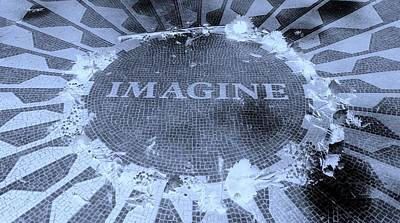 Imagine 2015 Negative Cyan Poster by Rob Hans