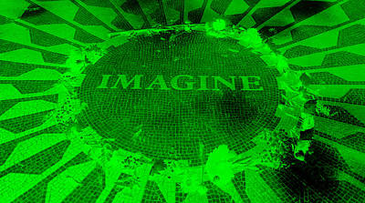 Imagine 2015 Negative Green Poster by Rob Hans